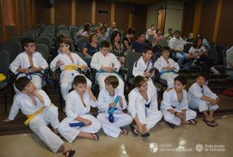 Xaverianos das Atividades Extras de Judô participam da Troca de Faixa