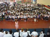 Os Xaverianos participaram de atividades no primeiro dia letivo