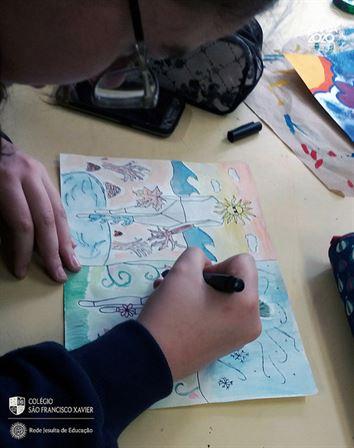 9ºs anos aprendem Pop-Art