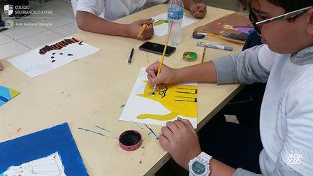 7ºs anos aprendem sobre Arte Naif