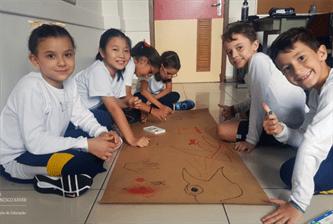 4ºs anos reproduzem arte rupestre