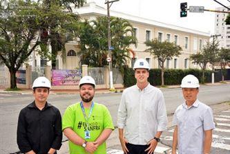 Jesuítas visitam as obras do Projeto SANFRA 2020