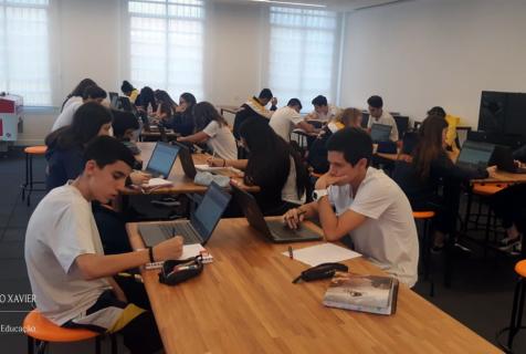 Xaverianos aprendem matemática por meio de plataforma digital